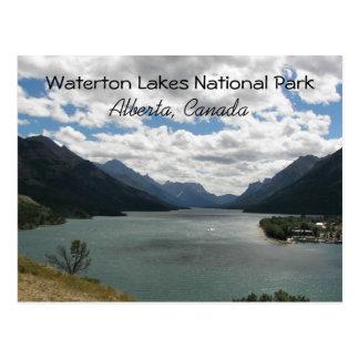 Waterton湖、カナダ旅行写真 ポストカード