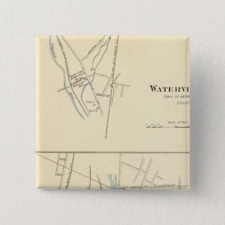 Waterville、WaterburyのS 5.1cm 正方形バッジ