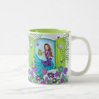 Watteringの花園の女の子|のかわいいマグ ツートーンマグカップ