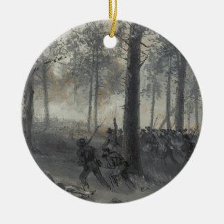 Waud著Chickamaugaのアメリカ南北戦争の戦い セラミックオーナメント