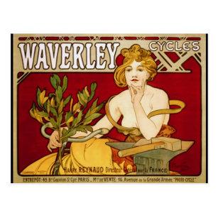 Waverleyは-アールヌーボー-アルフォンス島のミュシャを循環させます ポストカード