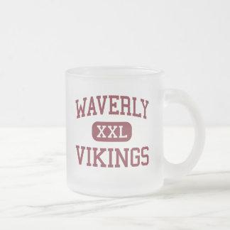 Waverly -バイキング-高等学校- Waverlyネブラスカ フロストグラスマグカップ