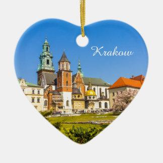 Wawelの城、クラクフ、ポーランド セラミックオーナメント