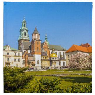 Wawelの城、クラクフ、ポーランド ナプキンクロス