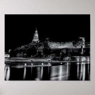 Wawelの城、クラクフ、ポーランド ポスター