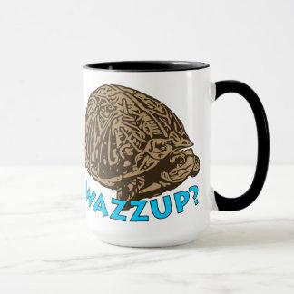 Wazzup -黒15のozの信号器のマグ マグカップ