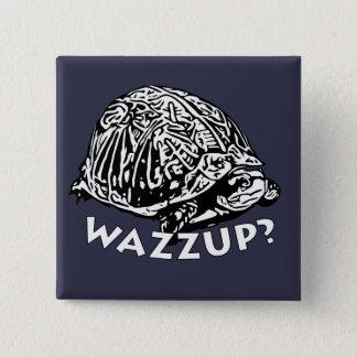 Wazzup - 2インチの正方形ボタン 5.1cm 正方形バッジ