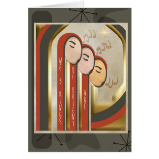 We 3 Kings - Art Deco Christmas Personalized カード
