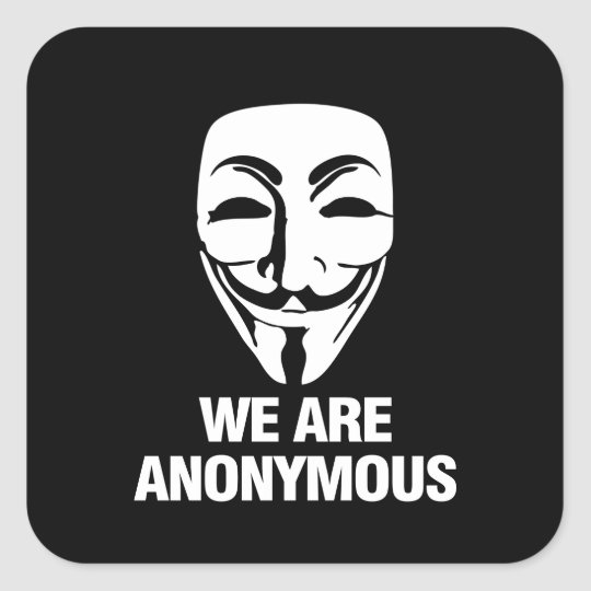 WE ARE ANONYMOUS スクエアシール