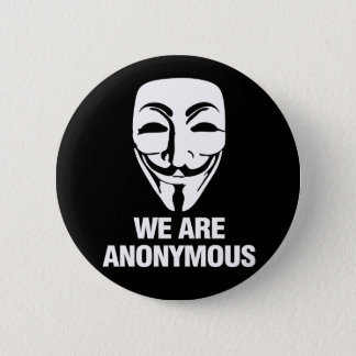 We are Anonymous. 5.7cm 丸型バッジ