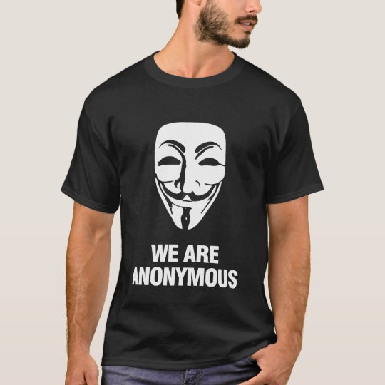 WE ARE ANONYMOUS. Tシャツ