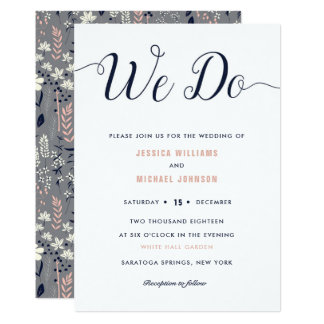 We Do Floral Wedding Invitations カード