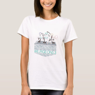 WE.PIGEONS.3女性バンドティー[前部及び背部プリント] Tシャツ