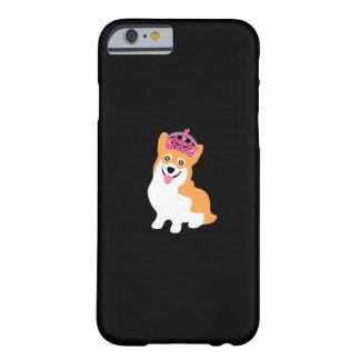 Wearingかわいく小さいコーギーの王女ピンクの王冠 Barely There iPhone 6 ケース