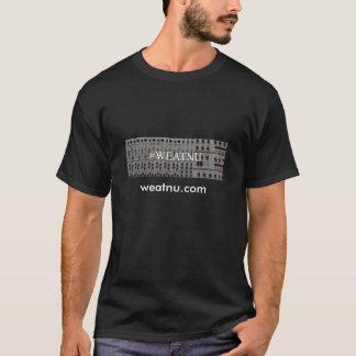 #WEATNU 「synth」およびURLが付いている大きい人のTシャツ Tシャツ