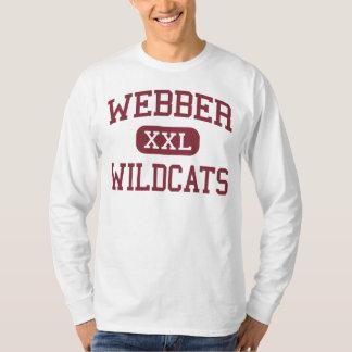 Webber -山猫-中間- Saginawミシガン州 Tシャツ