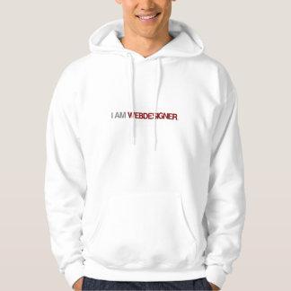 Webdesignerの絶対必要にフード付きスウェットシャツがあります パーカ