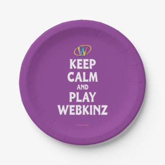 Webkinz穏やか、演劇保って下さい ペーパープレート