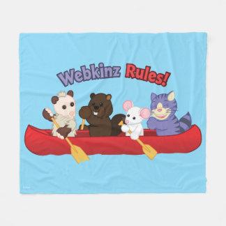 Webkinz | Webkinzの規則のカヌー旅行 フリースブランケット