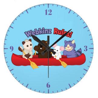 Webkinz | Webkinzの規則のカヌー旅行 ラージ壁時計