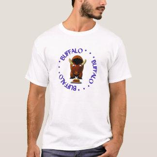 Weckおよびバッファローウィングのビーフを持つバッファロー Tシャツ