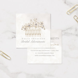 Wedding Bridal Hair Comb Accessories Jewelry スクエア名刺