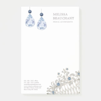 Wedding Bridal Jewelry Accessories Blue Earrings ポストイット