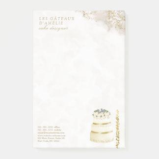 Wedding Cake Designer Bakery Gold Marble ポストイット
