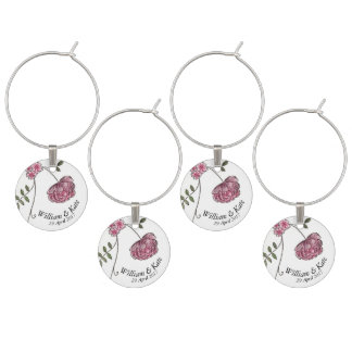Wedding Favors (favours) keepsake wine charm ワインチャーム