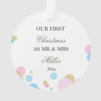 Wedding First Christmas Ornament Confetti オーナメント
