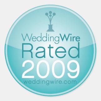 WeddingWireはステッカーを評価しました ラウンドシール