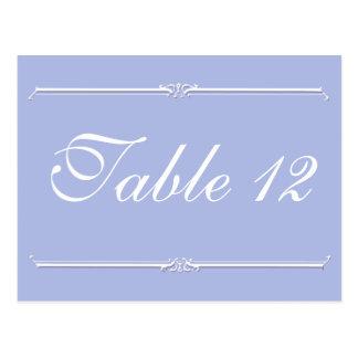 Wedgewoodの青2の結婚披露宴のテーブル数 ポストカード