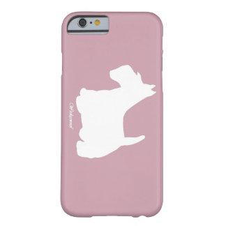 Wedgewoofスコットランドテリアのピンク Barely There iPhone 6 ケース