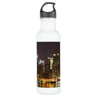 Weehawkenニュージャージーから見られるミッドタウン ウォーターボトル