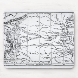 「Weeklyで出版される金ゴールドの地域の地図 マウスパッド