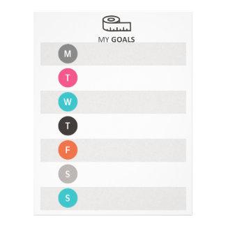 Weekly Health/Fitness Goals Tracker レターヘッド