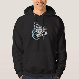 WeeMadの天使のスケート選手のフード付きスウェットシャツ パーカ
