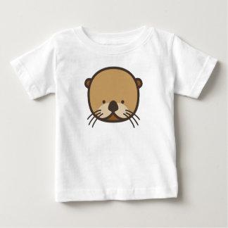 WeeOnezのカワウソのベビーの罰金のジャージーのTシャツ ベビーTシャツ