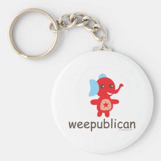 Weepublican象のデザイン キーホルダー
