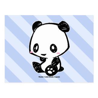 Weetleのパンダ ポストカード