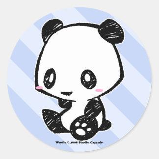 Weetleのパンダ ラウンドシール