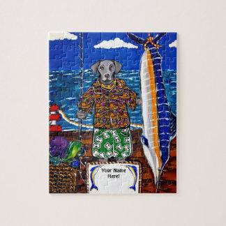 Weimaranerのマカジキの魚釣り ジグソーパズル