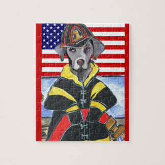 WEIMARANERの消防士 ジグソーパズル