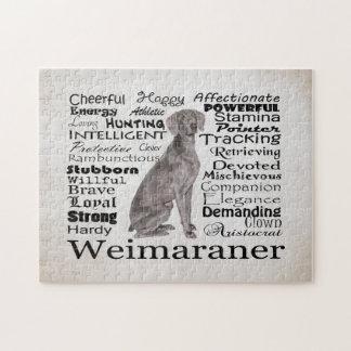 Weimaranerの特性のパズル ジグソーパズル