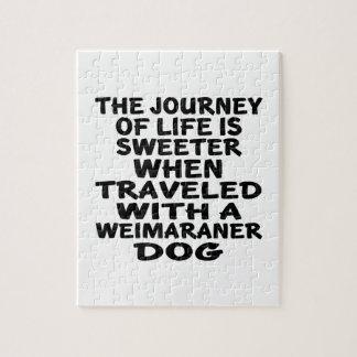 Weimaranerの生命パートナーと走行される ジグソーパズル