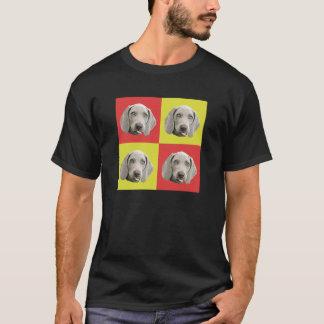 Weimaranerの間抜けなポップアート Tシャツ