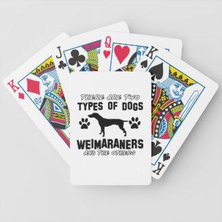Weimaraner犬のデザイン バイスクルトランプ