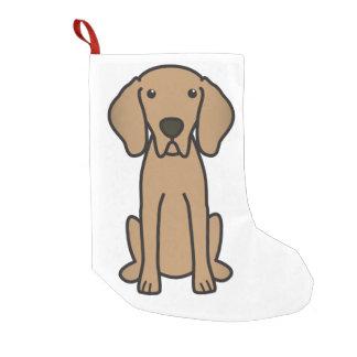 Weimaraner犬の漫画 スモールクリスマスストッキング