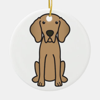 Weimaraner犬の漫画 セラミックオーナメント