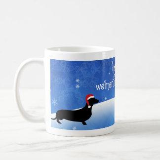 Weinerfulの休日のダックスフントのクリスマスのマグを持って下さい コーヒーマグカップ